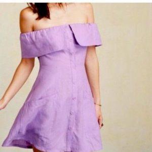 NWT Reformation off shoulder linen Botanica dress